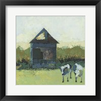 Framed Crooked Cow Barn
