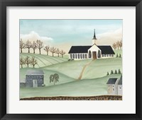 Framed Folk Church Scene II
