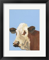 Framed Cow-don Bleu I