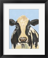 Framed Cow-don Bleu II
