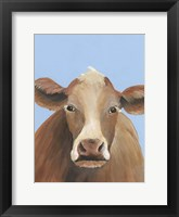Framed Cow-don Bleu IV