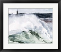 Framed Lighthouse Waves I