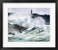 Framed Lighthouse Waves II