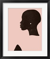 Framed Pink Silhouette I