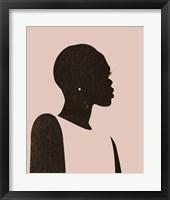 Framed Pink Silhouette II
