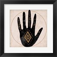 Framed Illuminated Palm II