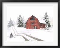 Framed Evergreen Farm I