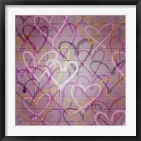 Framed Graffiti Hearts I