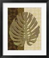 Framed Tropical Leaf I