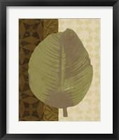 Framed Tropical Leaf II