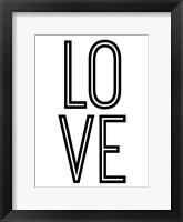 Framed Bold Love II
