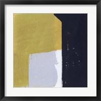 Framed Black & Yellow I