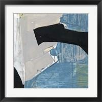 Framed Blue & Black I