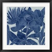 Framed Blue Lagoon Silhouette II