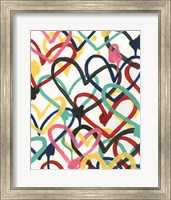 Framed Heart Scribbles I