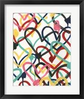 Framed Heart Scribbles I
