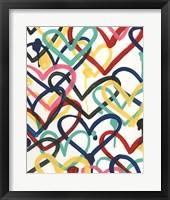 Framed Heart Scribbles II