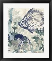 Framed Seafloor Fresco I