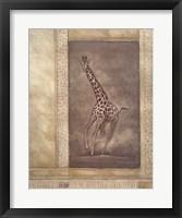 Framed Giraffe Odyssey