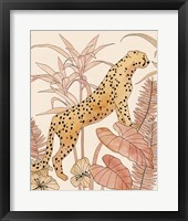 Framed Blush Cheetah II