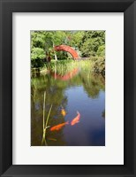 Framed Alabama, Theodore Bridge and Koi Pond at Bellingrath Gardens