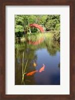 Framed Alabama, Theodore Bridge and Koi Pond at Bellingrath Gardens