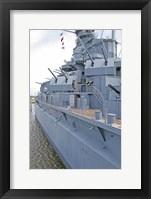 Framed USS Alabama Battleship Memorial Park Mobile Alabama