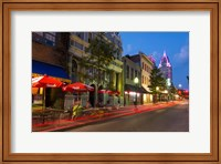 Framed Dauphin Street at Twilight, Mobile, Alabama