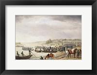 Framed Italian Corps of Eugene de Beauharnais Crossing the Niemen on 30 June 1812, (1815)