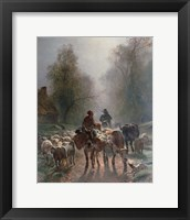 Framed On the Way to the Market, 1859