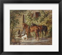 Framed Horses at the Porch, 1843