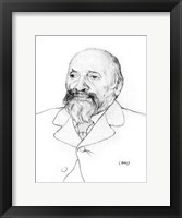 Framed Portrait of Russian Composer Mily Balakirev, 1907