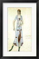 Framed Costume design for Ida Rubinstein as Ishtar, 1924