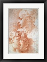 Framed Study of the Heads, c1527