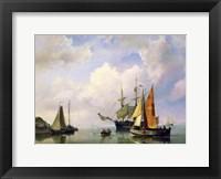 Framed Sea Landscape, Mid 19th Century