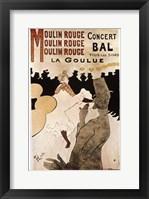 Framed La Goulue au Moulin Rouge, 1892