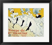 Framed La Troupe De Mlle Eglantine, 1896
