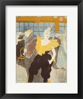 Framed La Clownesse in the Moulin Rouge, 1897