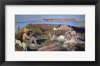 Framed Green Beach, Perros Guirec, 1909