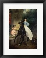 Framed Horsewoman, Portrait of Giovanina and Amazillia Pacini, 1832