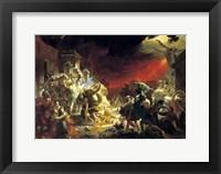 Framed last Day of Pompeii, 1833