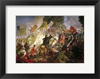 Framed Siege of Pskov by Stephen Bathory in 1581, 1839-1843