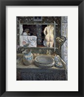Framed Mirror Above a Washstand, 1908