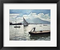 Framed Bay of Naples, 1909