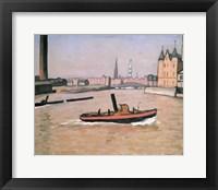 Framed Port of Hamburg, 1909