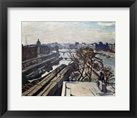 Framed View of the Seine and the Statue of Henry IV, c1906