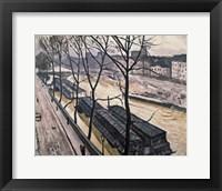 Framed Paris in winter