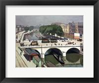 Framed Saint Michel Bridge in Paris