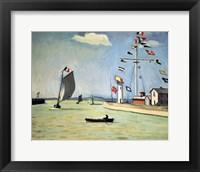 Framed Honfleur Harbour, c1911