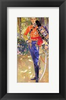Framed Portrait of King Alfonso XIII in a Hussars Uniform, 1907